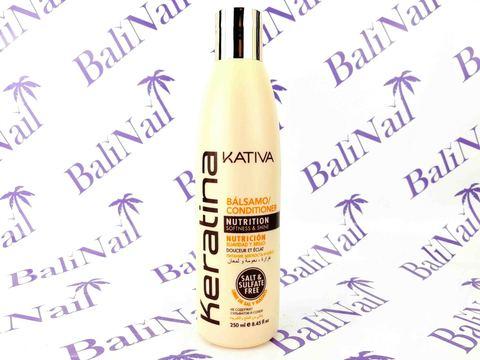 Kativa KERATINA Бальзам-кондиционер для всех типов волос кератиновый укрепляющий, 250 мл