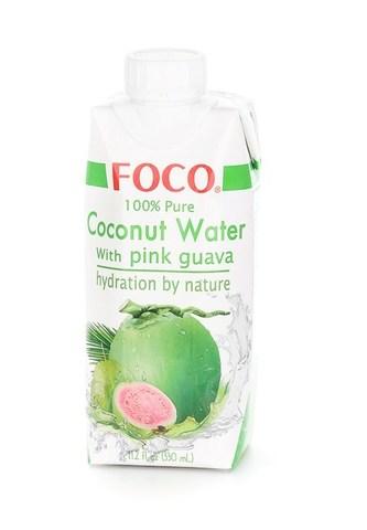Кокосовая Вода с Розовой Гуавой Foco, 330 мл