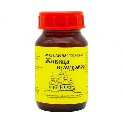 Мазь монастырская «Живица и мухомор» «Архыз» 100 мл.