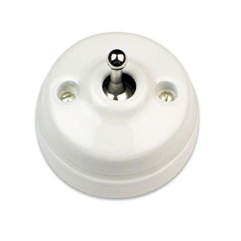 Выключатель/кнопка тумблерный 10А 250В~/24В. Цвет Белый/бронза. Fontini Dimbler(Фонтини Димблер). 60312452