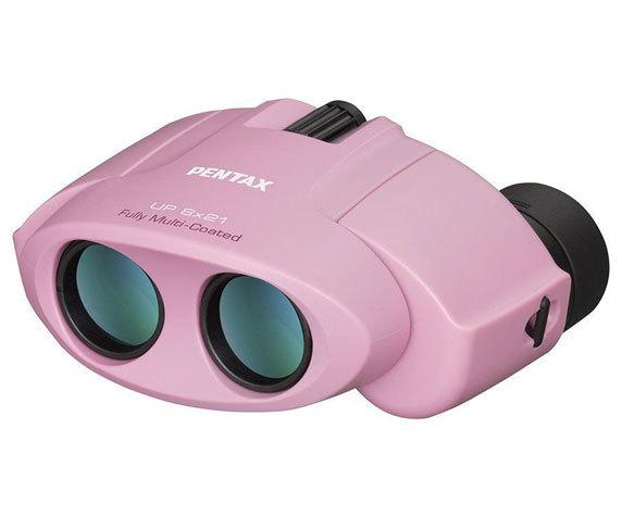 Бинокль Pentax UP 8 21 в розовом цвете