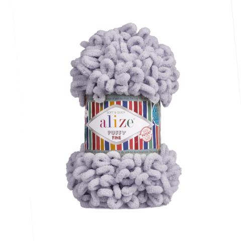 Купить Пряжа Ализе Пуффи Файн Код цвета 268 Голубь | Интернет-магазин пряжи «Пряха»