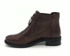 Кожаные бордовые ботинки с застежкой молнией