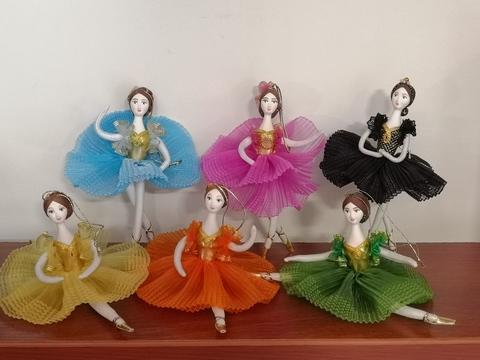 Кукла-балерина на подвеске (ручная роспись, 14 см)