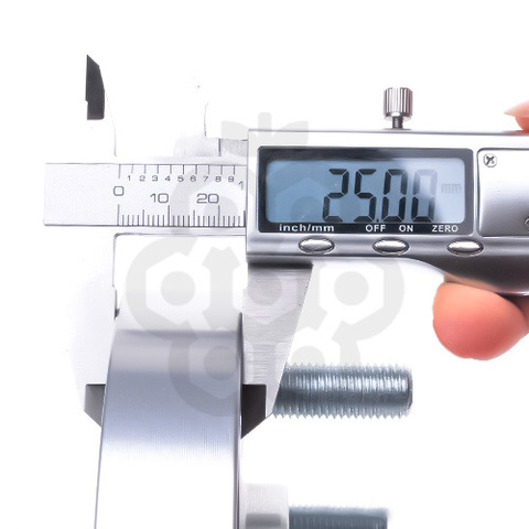 Проставка-адаптер с направляющей PCD 5х114.3 DIA 66.1 толщина 25, M12X1.5X30