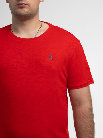 Мужская футболка «Великоросс» алого цвета