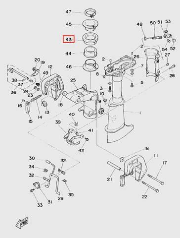 Втулка дейдвуда для лодочного мотора T5 Sea-PRO (10-43)