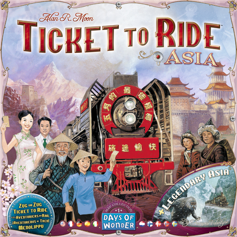 Ticket to Ride: Asia. Expansion Map Collection 1