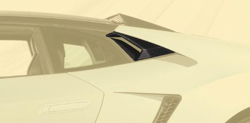 Карбоновый боковой воздухозаборник Mansory Style для Lamborghini Huracan