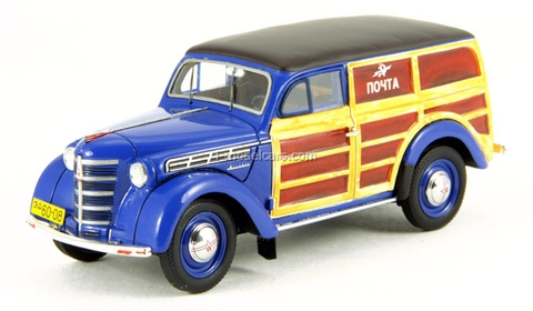 Moskvich-401-422 Post blue DIP 1:43