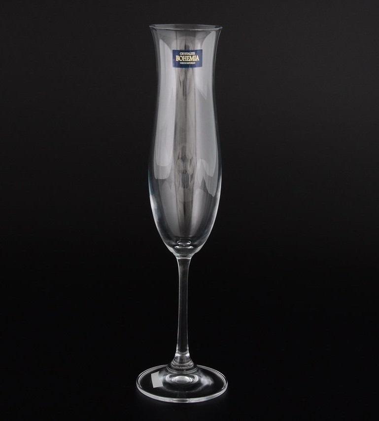 Набор из 6 фужеров для шампанского Crystalite Bohemia Safia, 200 мл