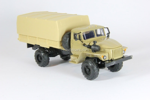 Ural-43206 with awning sand Elecon 1:43