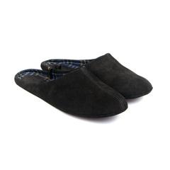 777137 туфли домашние мужские черные больших размеров марки Делфино