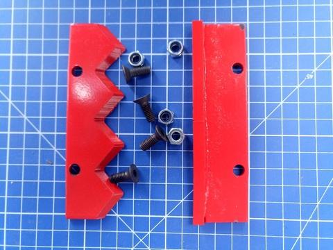Нож сменный двухзаходного шнека для грунта DDE (300 мм)(120х32х4мм, плоский) (пара) (DK-300)