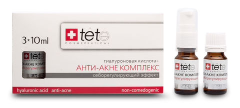 Гиалуроновая кислота + Анти-акне комплекс / TETe Hyaluronic acid + Anti-acne complex 3*10 ml