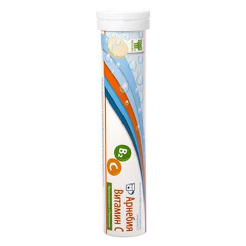 АРНЕБИЯ Витамин С, шипучие таблетки по 20 штук в пластиковой тубе