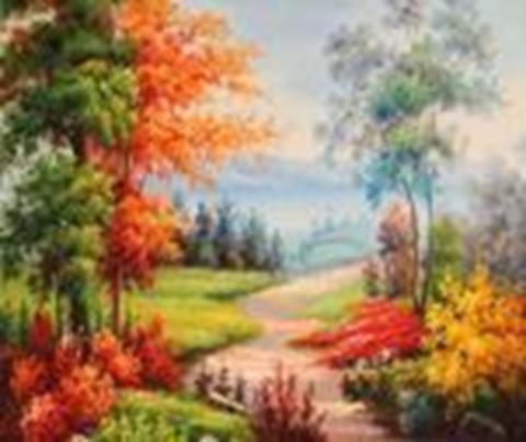 Алмазная Мозаика + Багет 40x50 Осенняя природа
