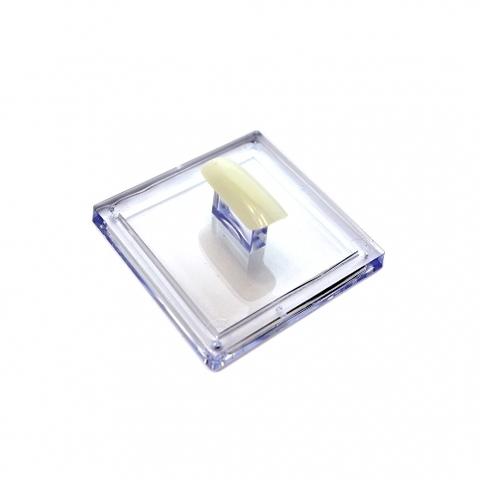 Держатель для типс квадратный прозрачный TNL Professional DTP-01