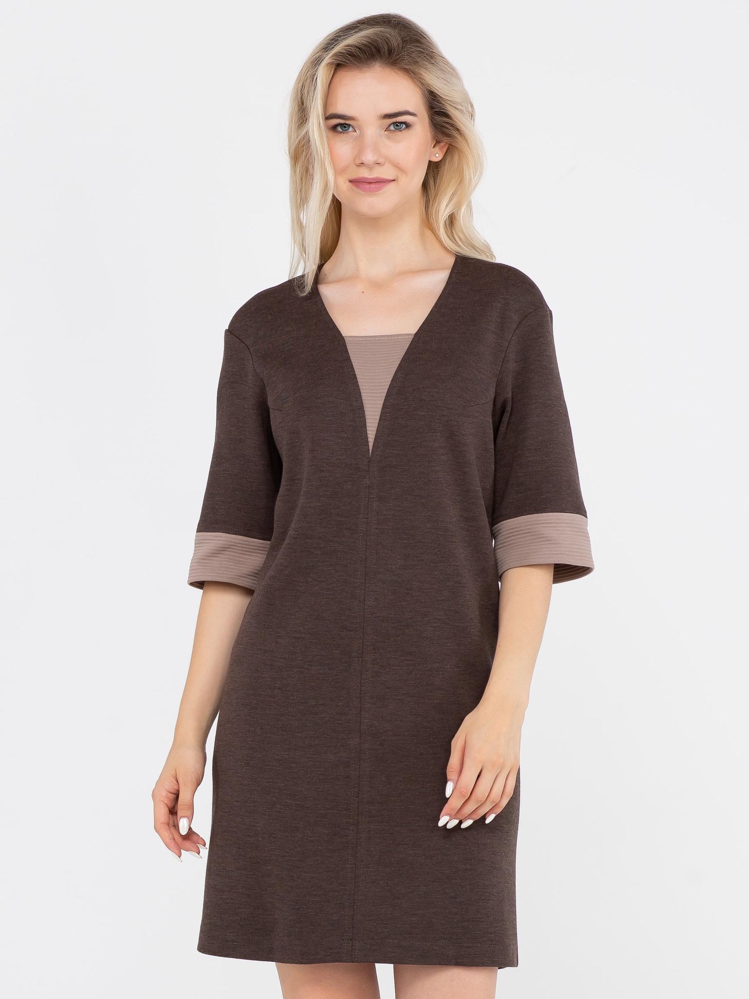 Платье З133-211 - Платье из плотного трикотажа расклешенного силуэта с рукавом до локтя. Универсальная и комфортная модель на каждый день.