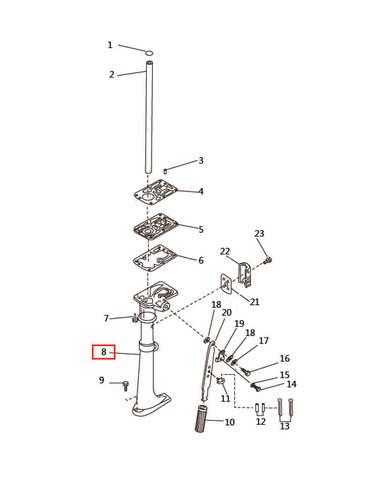 Корпус дейдвуда   для лодочного мотора T2,5 SEA-PRO (7-8)