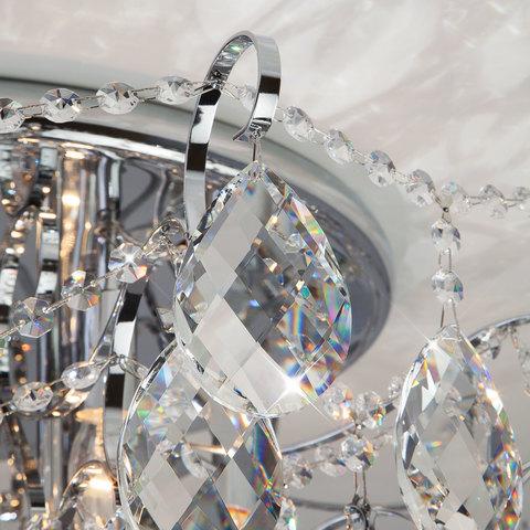 Потолочная люстра с хрусталем 10081/12 хром / прозрачный хрусталь