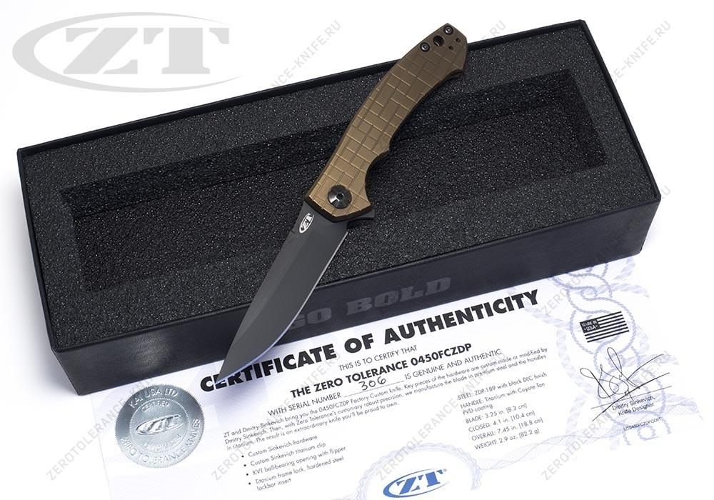 Нож Zero Tolerance 0450FCZDP Sinkevich - фотография