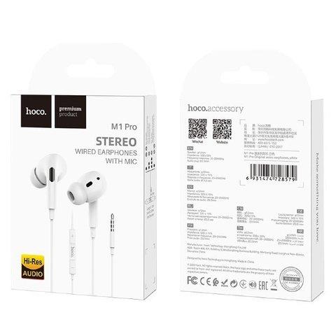 Гарнитура вакуумная HOCO M1 Pro, white (iPhone Earpods Pro)