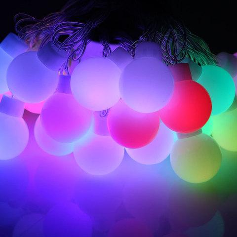 LED гирлянда большие шарики 20 лед