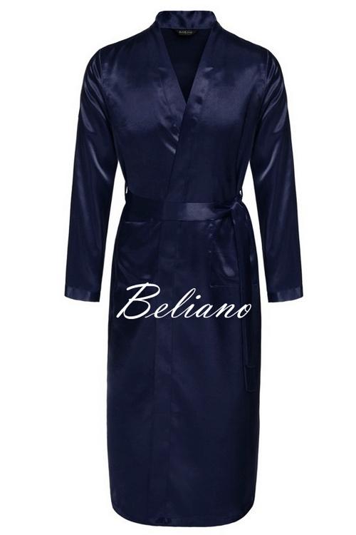 Мужской домашний халат синий короткий или длинный. Натуральный шелк, купить Киев