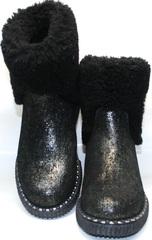 Зимние полусапожки женские без каблука Kluchini 13044 k289