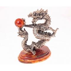 """Сувенир """"Танцующий дракон"""", янтарь, серия """"Восточная сказка"""""""