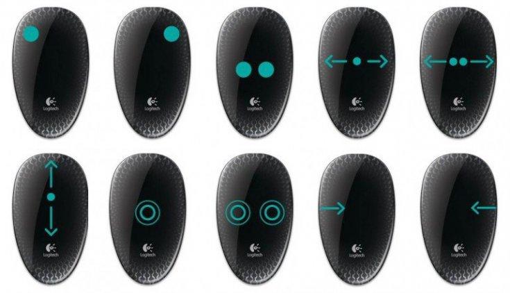 LOGITECH T620 Touch Mouse Black