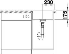 Мойка Blanco Zerox 400-IF/A схема
