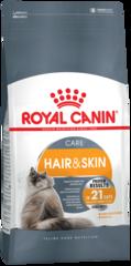 Корм для кошек, Royal Canin Hair & Skin Care, здоровье шерсти и кожи, в возрасте от 1 года и старше