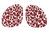 Полустельки под стопу с принтом «Леопард», 1 пара