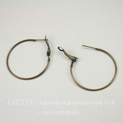 Швензы - кольца, 35 мм (цвет - античная бронза)