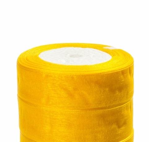 Лента органза (размер:25мм х 25 ярдов) Цвет: жёлтый