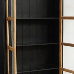 Шкаф книжный Secret de Maison BLACK LABEL (mod. DA-2289) дерево акация, манго, мдф, черный/натуральный