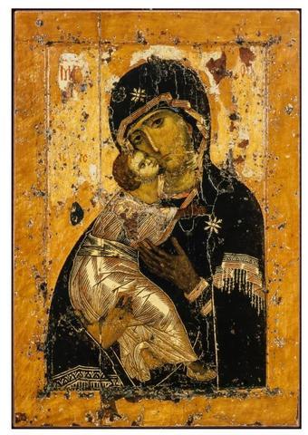 Икона Божией Матери Владимирская на дереве на левкасе мастерская Иконный Дом