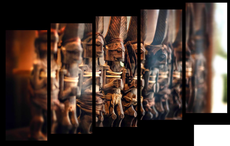 """Абстракция Модульная картина """"Древние статуэтки"""" М979.png"""
