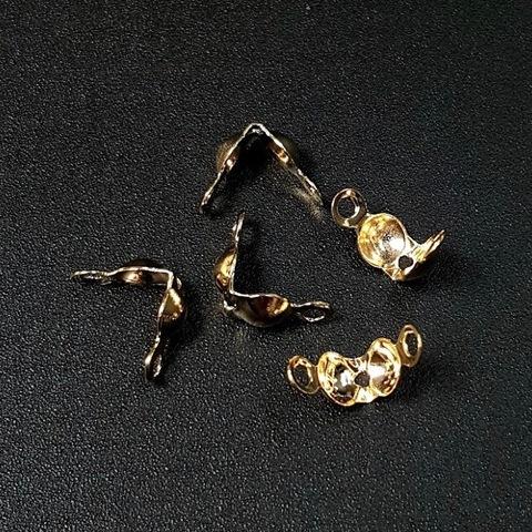 Зажим - маскировщик узла 7х4 мм цвет золото