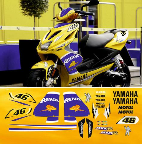 Набор виниловых наклеек на мотоцикл YAMAHA AEROX 2006