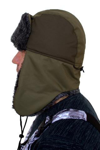 Шапка-ушанка ткань таслан искусственный мех