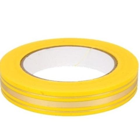 Лента золотая полоса Россия (размер: 2 см х 50 ярдов) Цвет: желтый