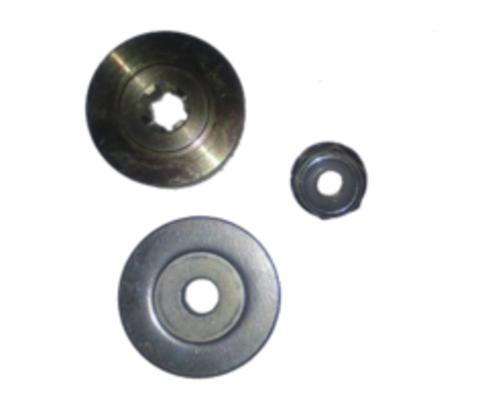 Комплект шайб редуктора с гайкой для бензокосы (триммера) 6 шлицов