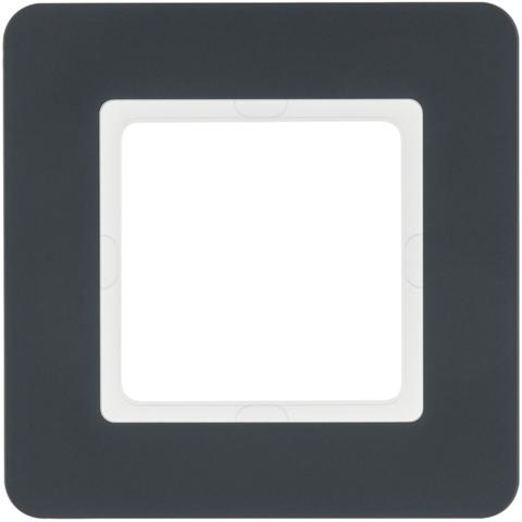 Рамка на 1 пост. Цвет Антрацит. Berker (Беркер). Q.7. 10116186