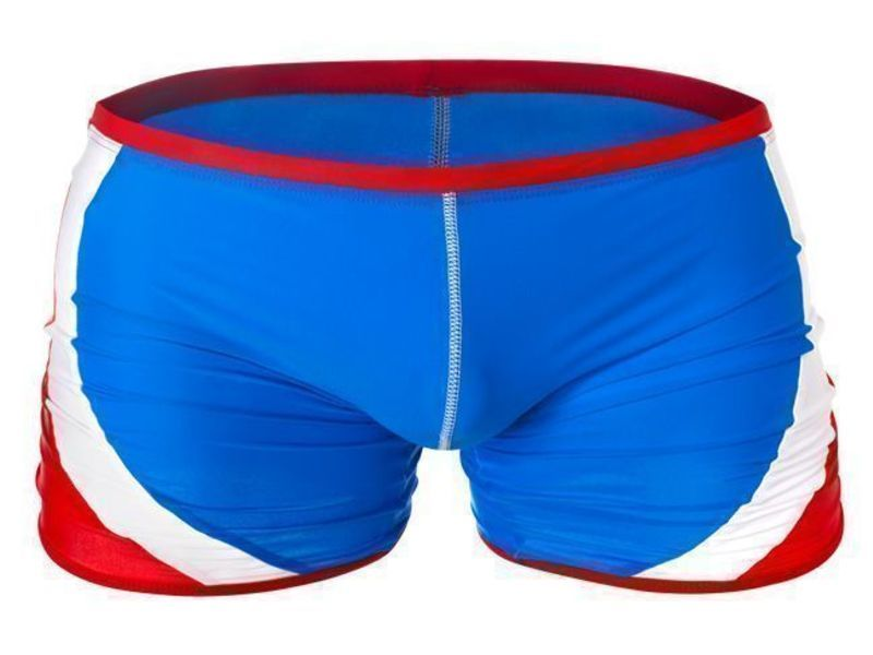 Мужские плавки синие с красными полосами Aussiebum