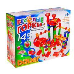 """Конструктор """"Весёлые горки"""", 145 элементов"""