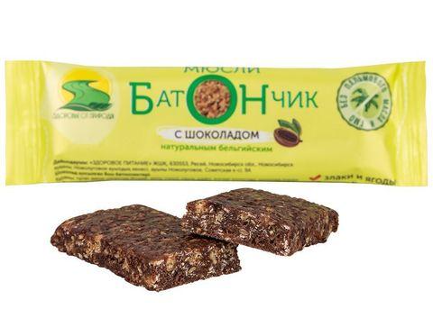 """Батончик """"Бон"""" с шоколадом на какао масле 30г"""