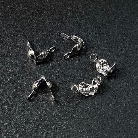 Зажим - маскировщик узла 7х4 мм цвет платина